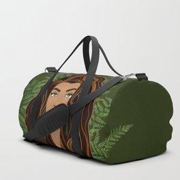 MAIA green bg Duffle Bag