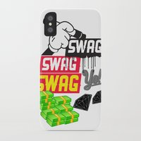 swag iPhone & iPod Cases featuring SWAG by Mr. Magenta