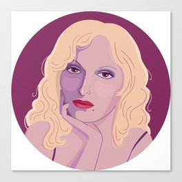 Queer Portrait - Candy Darling Canvas Print