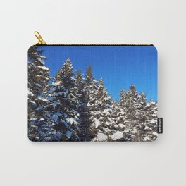 Winter forest roadside Carry-All Pouch