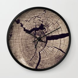 Cracks in Time - Photography #Society6 Wall Clock
