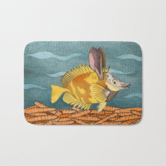 Foxface rabbit fish Bath Mat