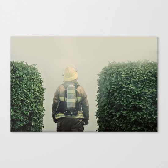 Into the Grey Canvas Print