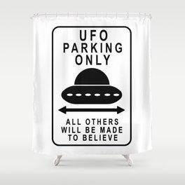 UFO Parking Shower Curtain