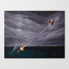 Bazooka Whale Canvas Print