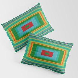 """""""Pop Ring Green""""   Op art Pillow Sham"""