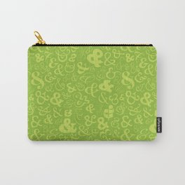 Ampersands - Green Carry-All Pouch