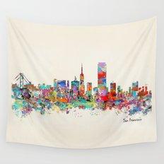 San Francisco skyline Wall Tapestry