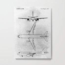 Airbus A320 Metal Print