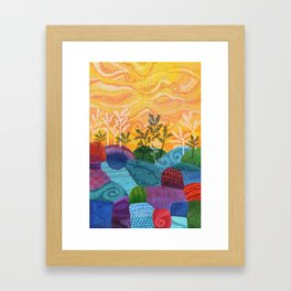 on and on fields Framed Art Print