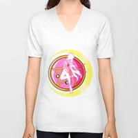 sailormoon V-neck T-shirts featuring In the name of the moon by Juliet García