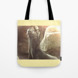 River Otter with Head Stretched Upward Tote Bag