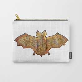 Battered Wooden Halloween Bat Decoration In A Retro Style Carry-All Pouch