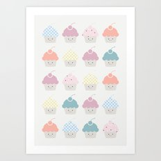 Cupcakes pattern Art Print