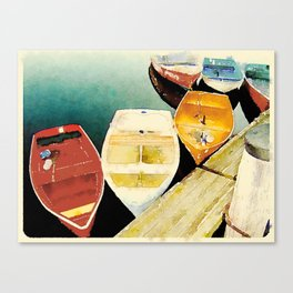 Rockport, Massachusetts Dories Canvas Print