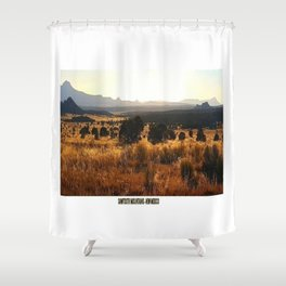Sawtooth Mountains - New Mexico Shower Curtain