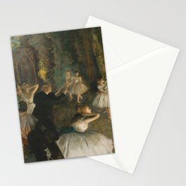 """Degas Ballerina - """"The Rehearsal of the Ballet Onstage"""" Stationery Cards"""