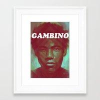 childish gambino Framed Art Prints featuring Gambino by NArtist_P3rhaps