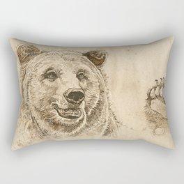 Grizzly Bear Greeting Rectangular Pillow