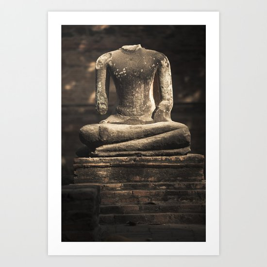Beheaded Bhudda Art Print