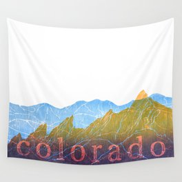 Colorado Mountain Ranges_Boulder Flat Irons + Continental Divide Wall Tapestry