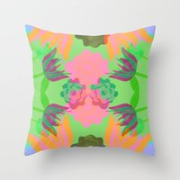 oasis Throw Pillows featuring Oasis by Ingrid Castile