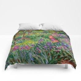 "Claude Monet ""The Iris Garden at Giverny"", 1899-1900 Comforters"