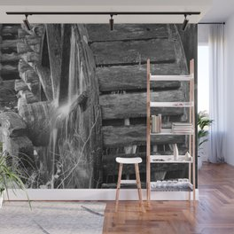 Grist Mill Water Wheel Wall Mural