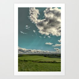 Summer sky's in the heartland Art Print