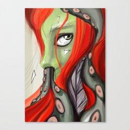 Red head, green skin Canvas Print