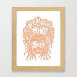 Open Your Mind in orange Framed Art Print