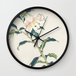 Lily by Kōno Bairei Wall Clock