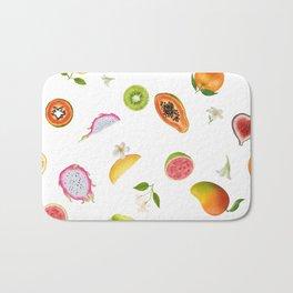 Tropical fruits summer mix Bath Mat