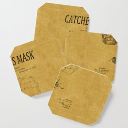 Catchers Mask Patent 1 Coaster