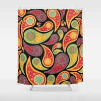 Bohemian Paisley  Shower Curtain