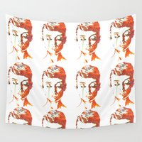 audrey hepburn Wall Tapestries featuring Audrey Hepburn by Geryes