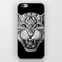 leopard iPhone & iPod Skins featuring Leopard by BIOWORKZ