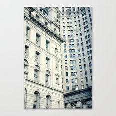 NYC Downtown Buildings, New York City Photography Canvas Print