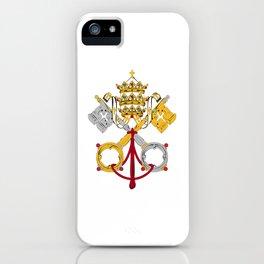 Vatican City Holy See flag emblem iPhone Case