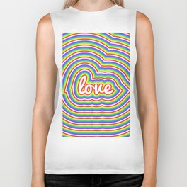 Bright Rainbow Love Biker Tank