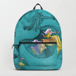 discopatttern turquoise -1a- Backpack