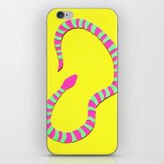 Yellow Snake Papercut iPhone & iPod Skin