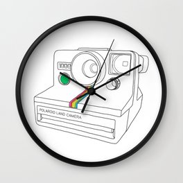 Vintage Camera - Land Camera 1000 (One Step) Wall Clock