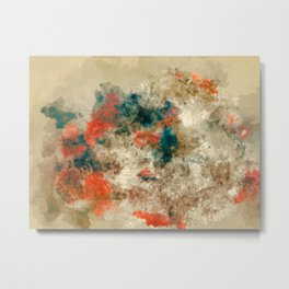 Watercolor Abstract  Metal Print