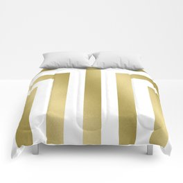 Gold Stripes Comforters