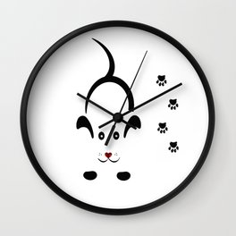 Dog Paw Wall Clock