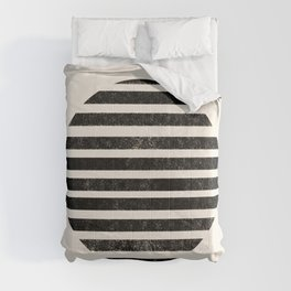 Abstract black shapes Comforters