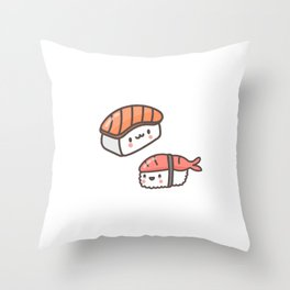 Sushi Bad Funny design for Japan fans Throw Pillow