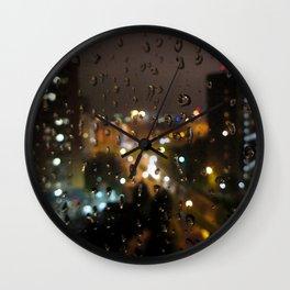 Rainy Night City Wall Clock