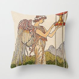 Ace of Cups By Walter Crane Throw Pillow